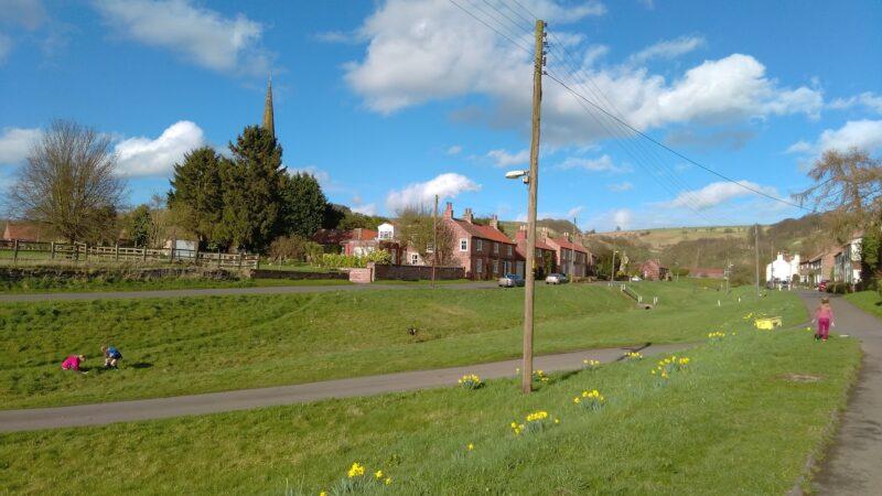 Bishop Wilton Village in the Spring