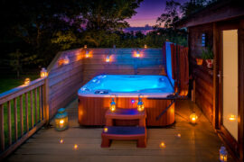 lodges with hot tubs york