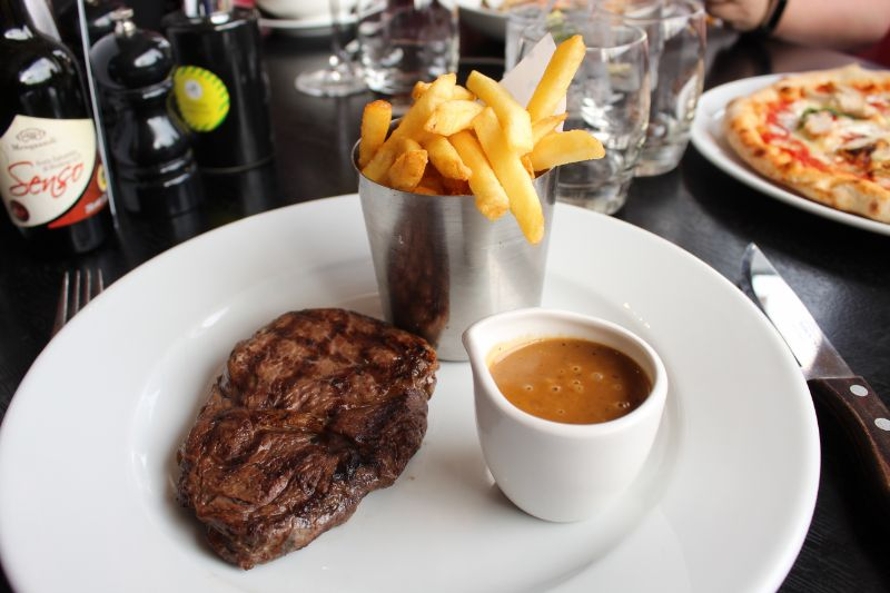 Aberdeen Angus and Hereford Ribeye steak